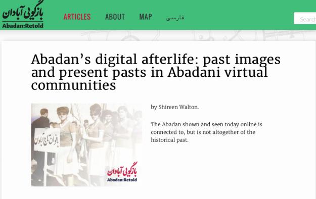 Abadan's Digital Afterlife, article on 'Abadan:Retold'